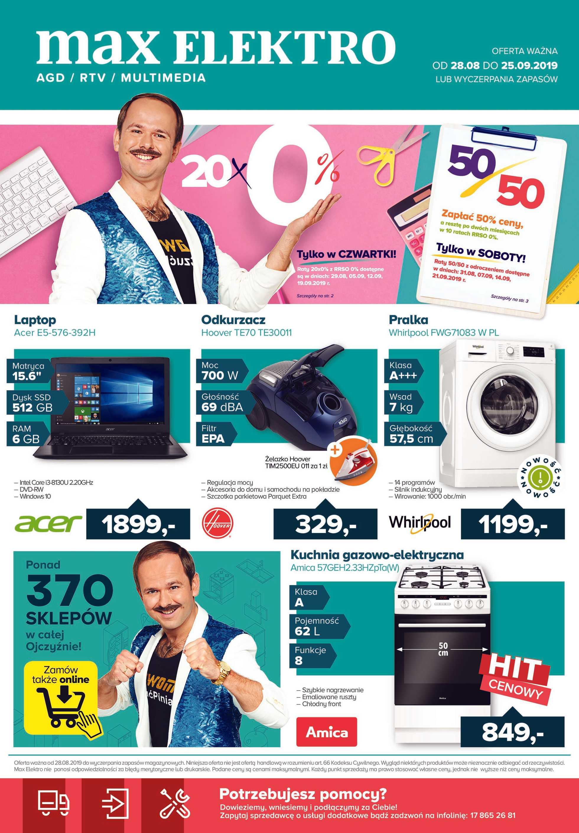 Max Elektro - gazetka obowiązująca od 28-08-2019 - strona 1