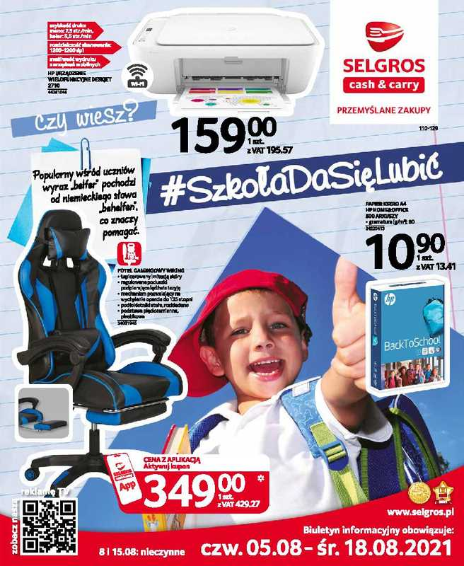 Selgros Cash&Carry - gazetka promocyjna ważna od 05.08.2021 do 18.08.2021 - strona 1.