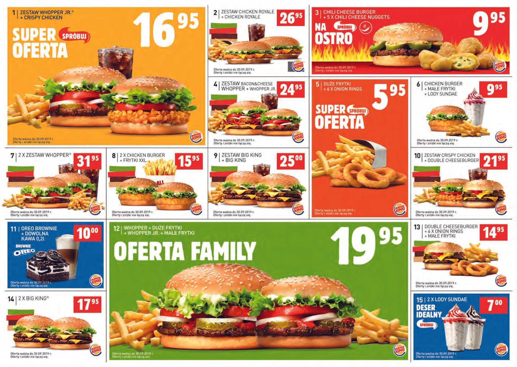 Burger King - gazetka obowiązująca od 01-08-2019 - strona 1