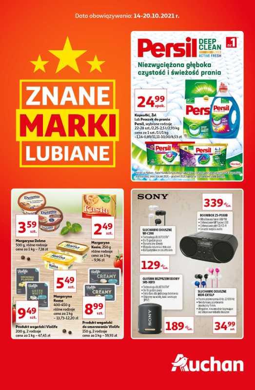 Auchan - gazetka promocyjna ważna od 14.10.2021 do 20.10.2021 - strona 1.
