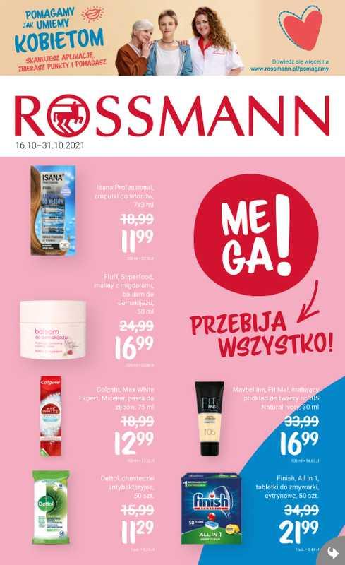 Rossmann - gazetka promocyjna ważna od 16.10.2021 do 31.10.2021 - strona 1.