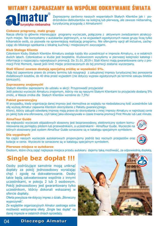 Almatur - gazetka obowiązująca od 2019-01-01 - strona 4