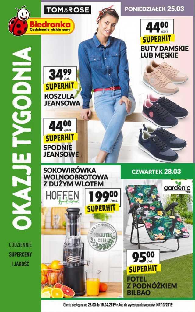 Biedronka - gazetka obowiązująca od 2019-03-25 - strona 1