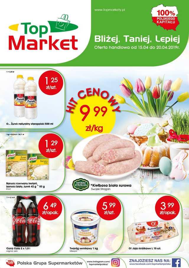 Top Market - gazetka obowiązująca od 2019-04-15 - strona 1