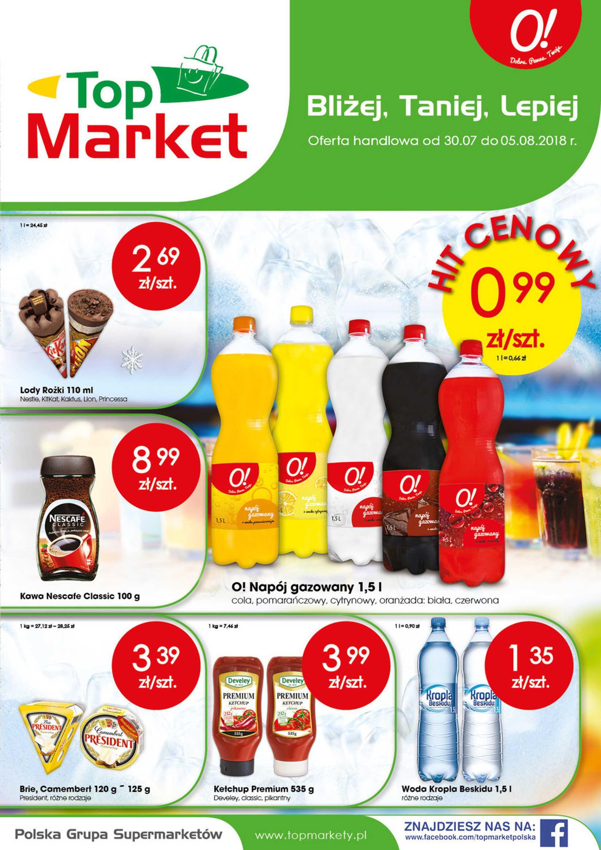 Top Market - gazetka obowiązująca od 2018-07-30 - strona 1