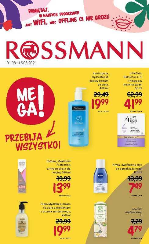 Rossmann - gazetka promocyjna ważna od 01.08.2021 do 15.08.2021 - strona 1.