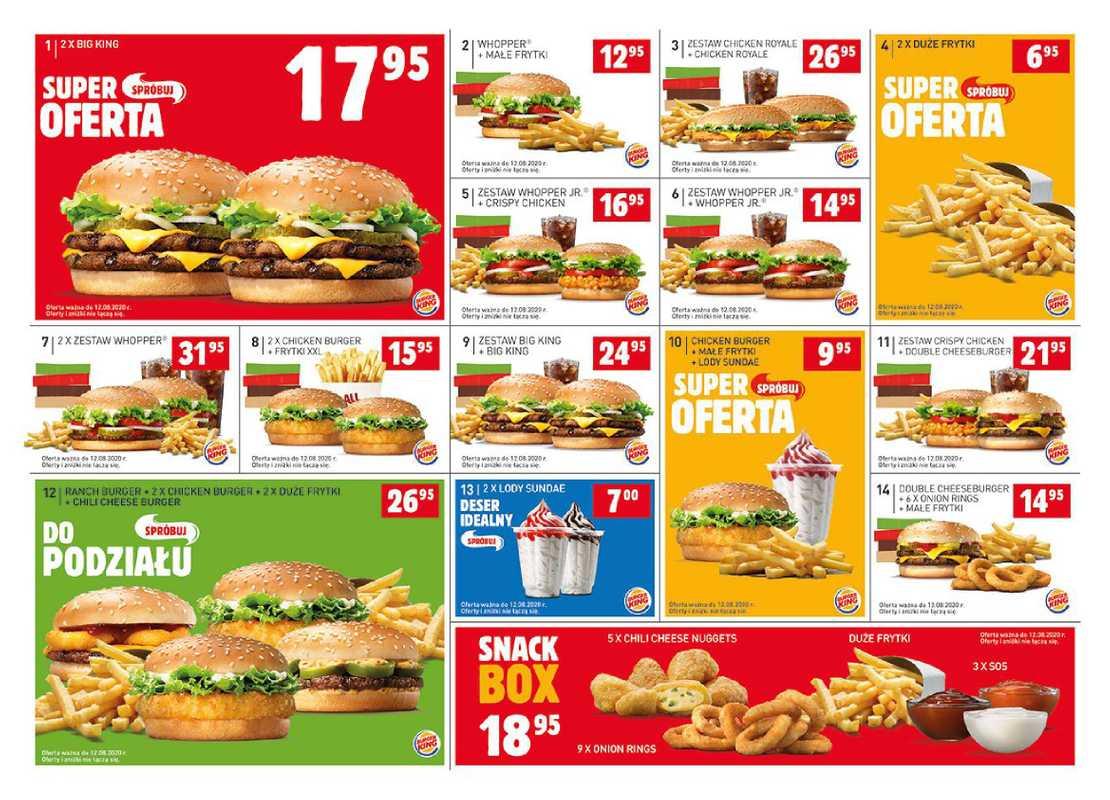 Burger King - gazetka promocyjna ważna od 06.07.2020 do 12.08.2020 - strona 1.