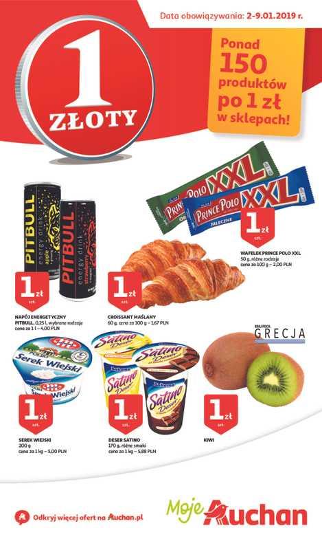 Auchan - gazetka promocyjna ważna od 02.01.2019 do 09.01.2019 - strona 1.