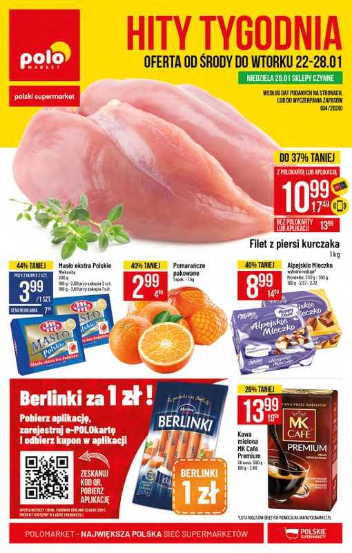 Polomarket - gazetka promocyjna ważna od 22.01.2020 do 28.01.2020 - strona 1.