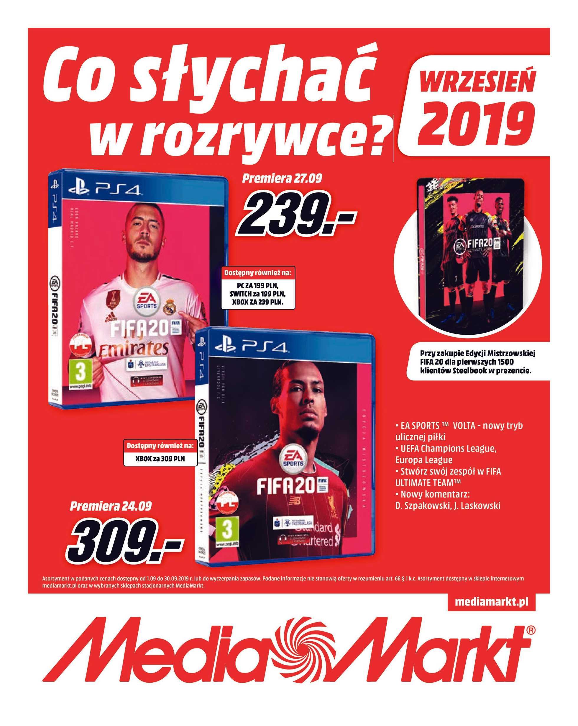Media Markt - gazetka obowiązująca od 01-09-2019 - strona 1