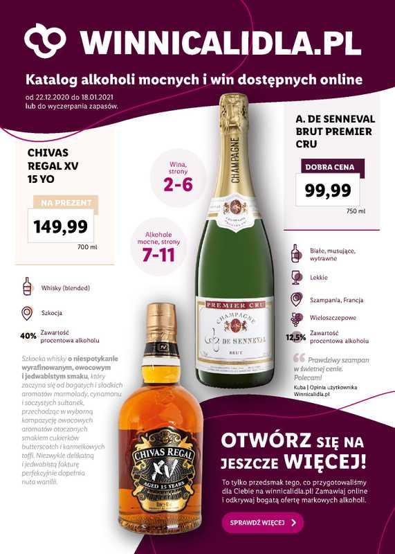 Lidl - gazetka promocyjna ważna od 22.12.2020 do 18.01.2021 - strona 1.
