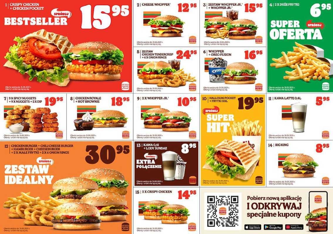 Burger King - gazetka promocyjna ważna od 20.04.2021 do 31.05.2021 - strona 1.