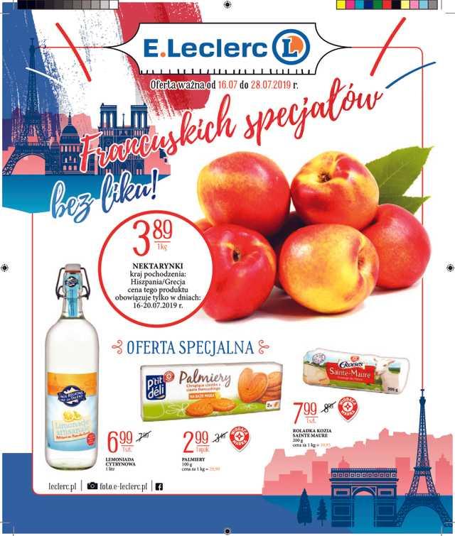 E.Leclerc - gazetka obowiązująca od 2019-07-16 - strona 1