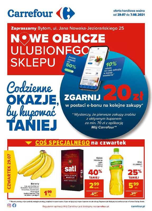 Carrefour - gazetka promocyjna ważna od 29.07.2021 do 07.08.2021 - strona 1.