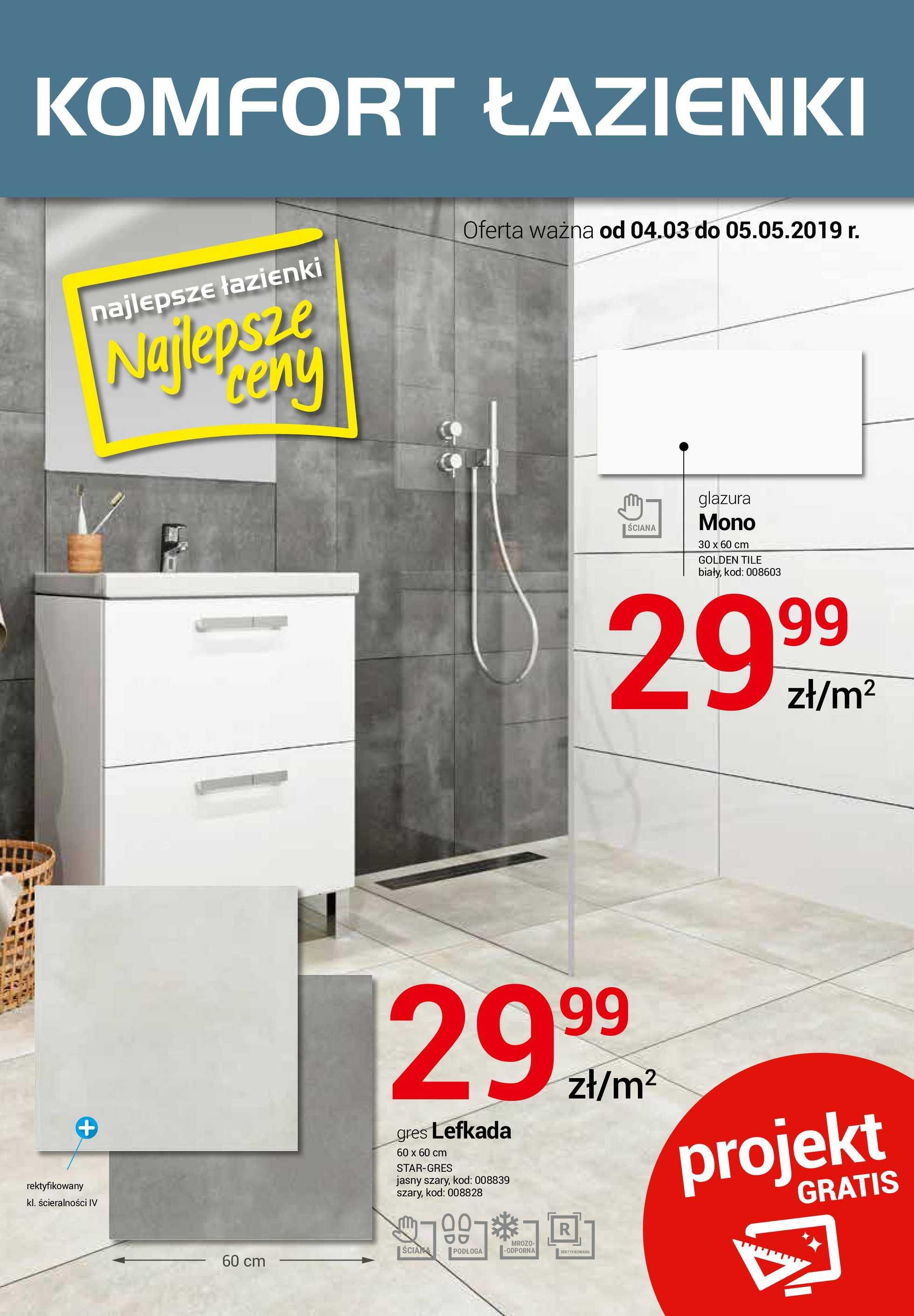 Komfort łazienki Gazetka Promocyjna 04 03 2019 Gazetkowopl