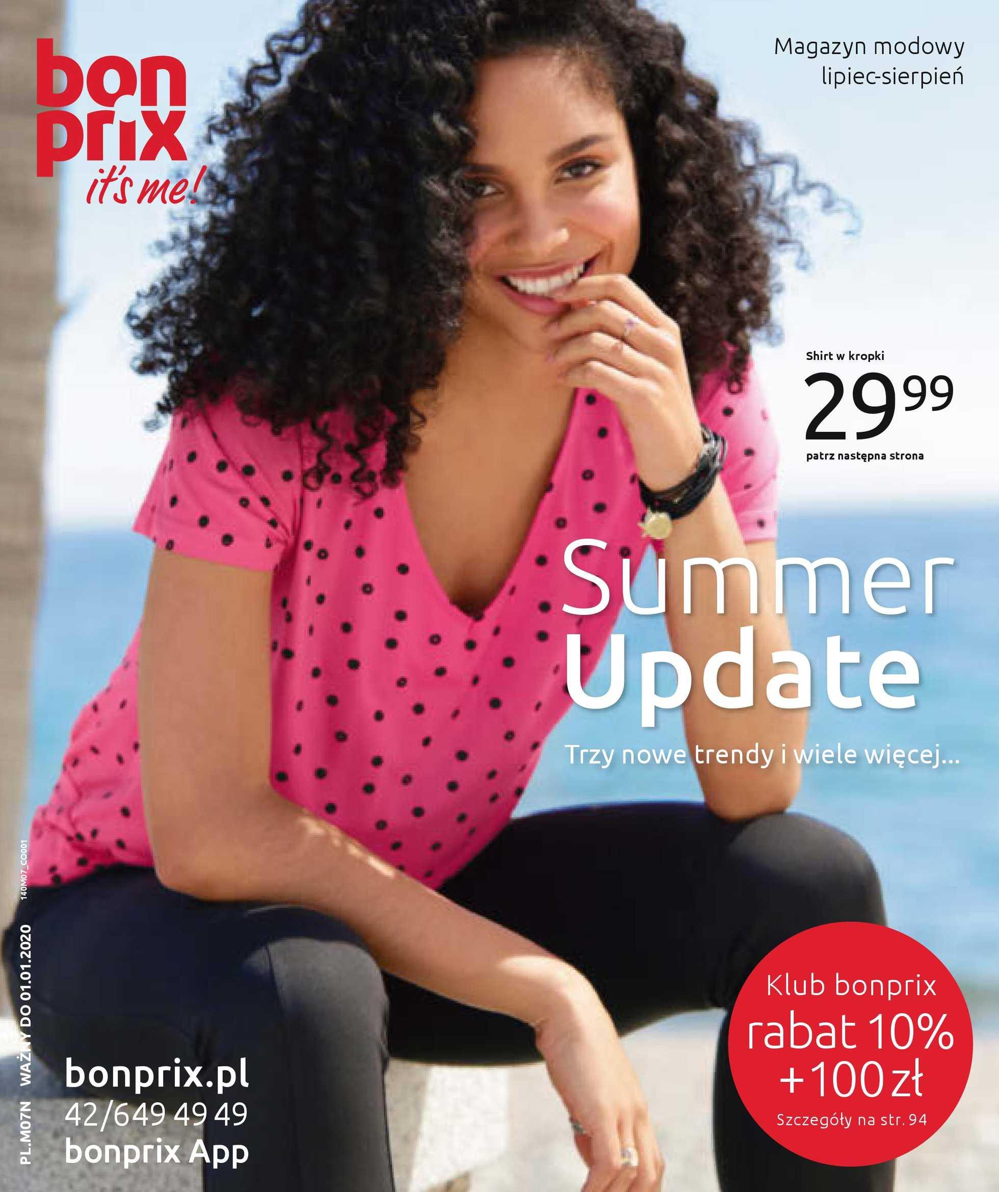 Bonprix - gazetka obowiązująca od 17-07-2019 - strona 1