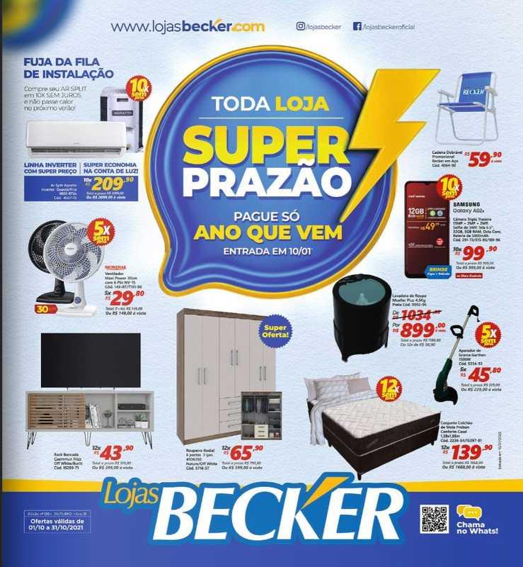 Lojas Becker - encarte válido de 01.10.2021 até 31.10.2021 - página 1.