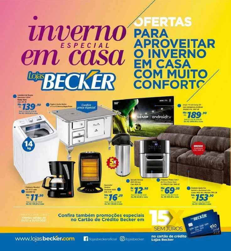 Lojas Becker - encarte válido de 01.07.2021 até 31.07.2021 - página 1.