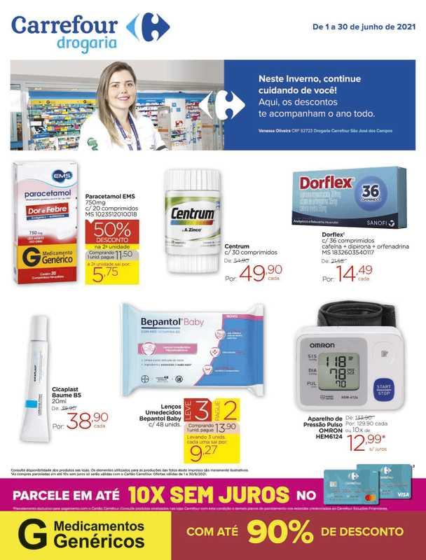 Carrefour drogaria - encarte válido de 01.06.2021 até 30.06.2021 - página 1.