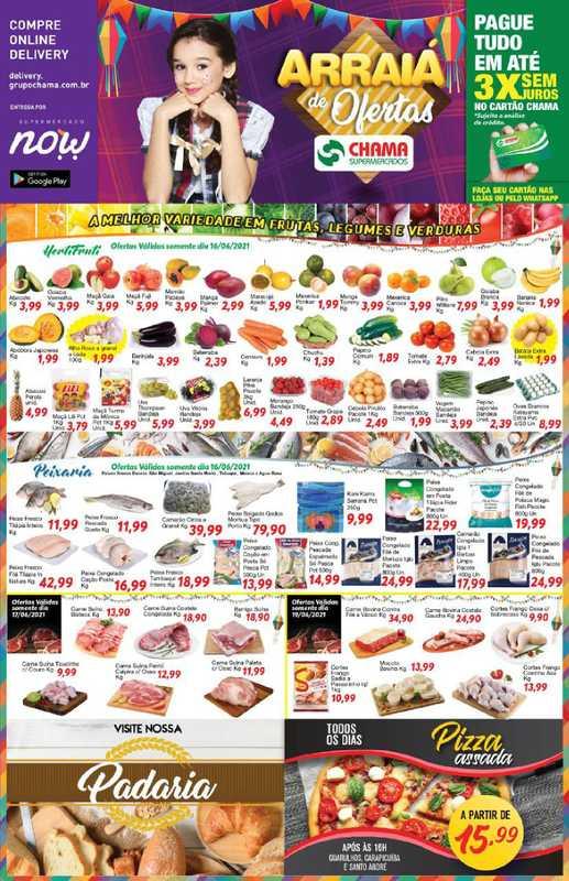 Chama Supermercados - encarte válido de 16.06.2021 até 22.06.2021 - página 1.