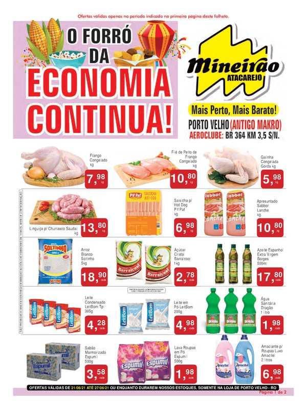 Mineirão Atacarejo - encarte válido de 21.06.2021 até 27.06.2021 - página 1.