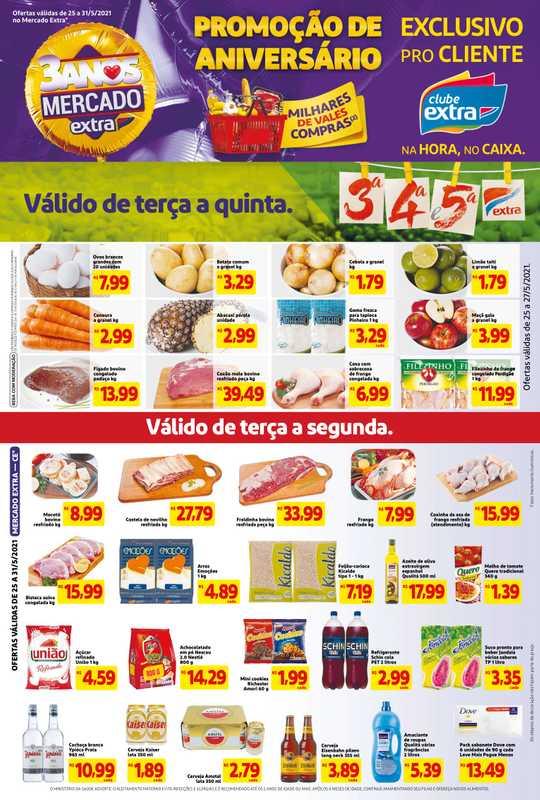 Extra Mercado - encarte válido de 25.05.2021 até 31.05.2021 - página 1.
