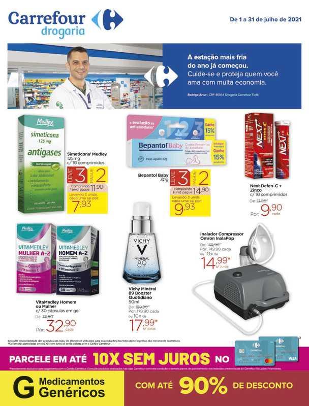 Carrefour drogaria - encarte válido de 01.07.2021 até 31.07.2021 - página 1.