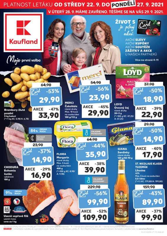 Kaufland - promo od 22.09.2021 do 28.09.2021 - stránka 1.