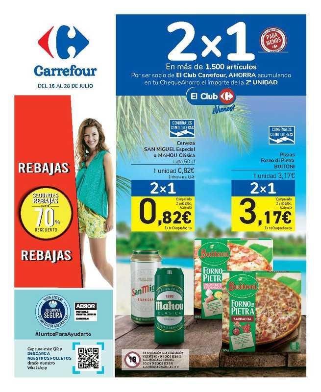 Carrefour - el folleto es válido desde 16.07.2021 hasta 28.07.2021 - página 1.