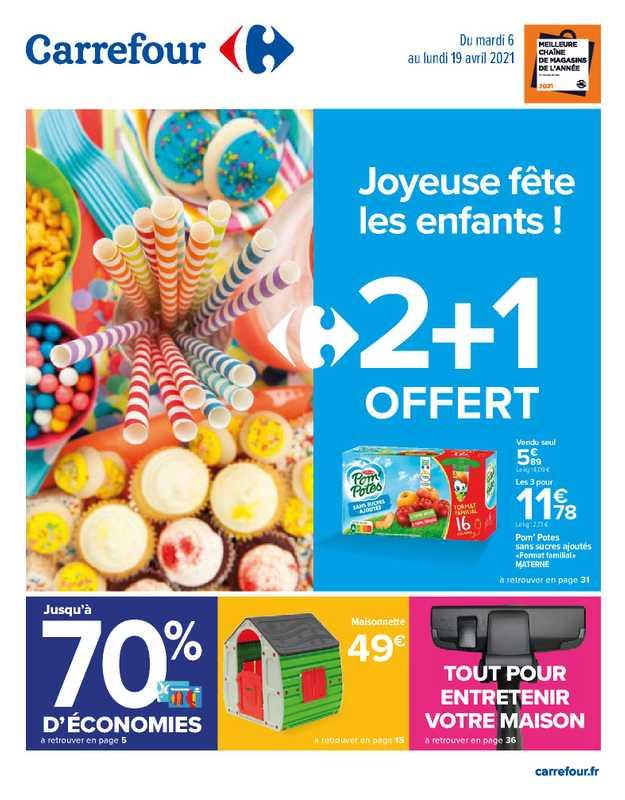 Carrefour - promo valable du 06.04.2021 au 19.04.2021 - page 1.