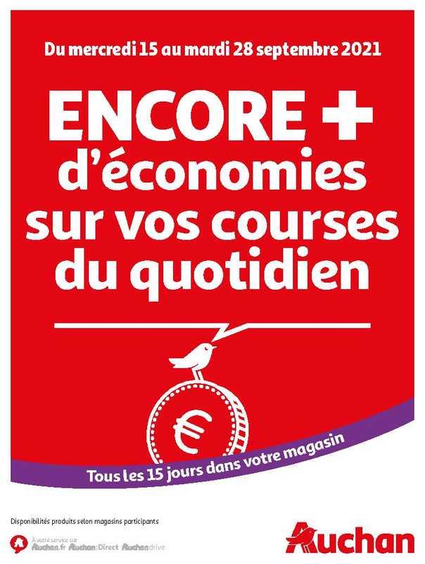 Auchan - promo valable du 15.09.2021 au 28.09.2021 - page 1.
