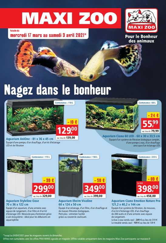 Maxi Zoo - promo valable du 17.03.2021 au 03.04.2021 - page 1.