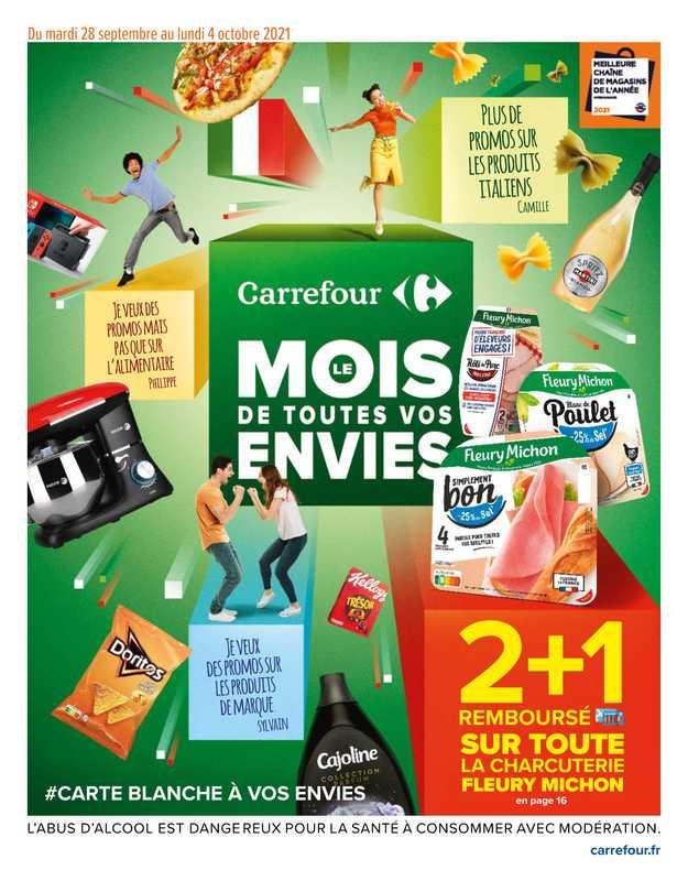 Carrefour - promo valable du 28.09.2021 au 04.10.2021 - page 1.
