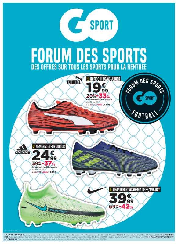 GO Sport - promo valable du 08.09.2021 au 27.09.2021 - page 1.