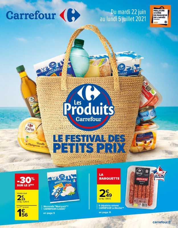 Carrefour - promo valable du 22.06.2021 au 05.07.2021 - page 1.