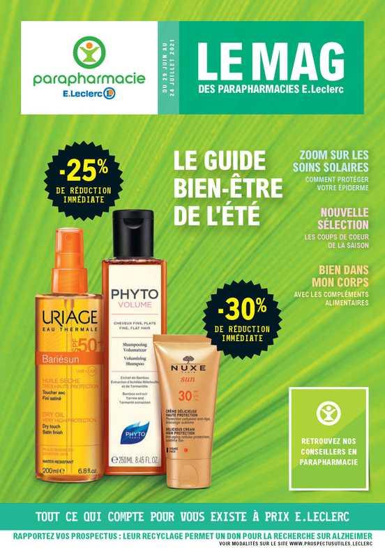 E.Leclerc Parapharmacie - promo valable du 29.06.2021 au 24.07.2021 - page 1.