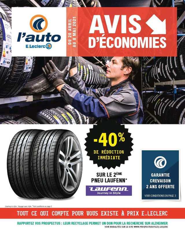 L'Auto E.Leclerc - promo valable du 20.04.2021 au 08.05.2021 - page 1.