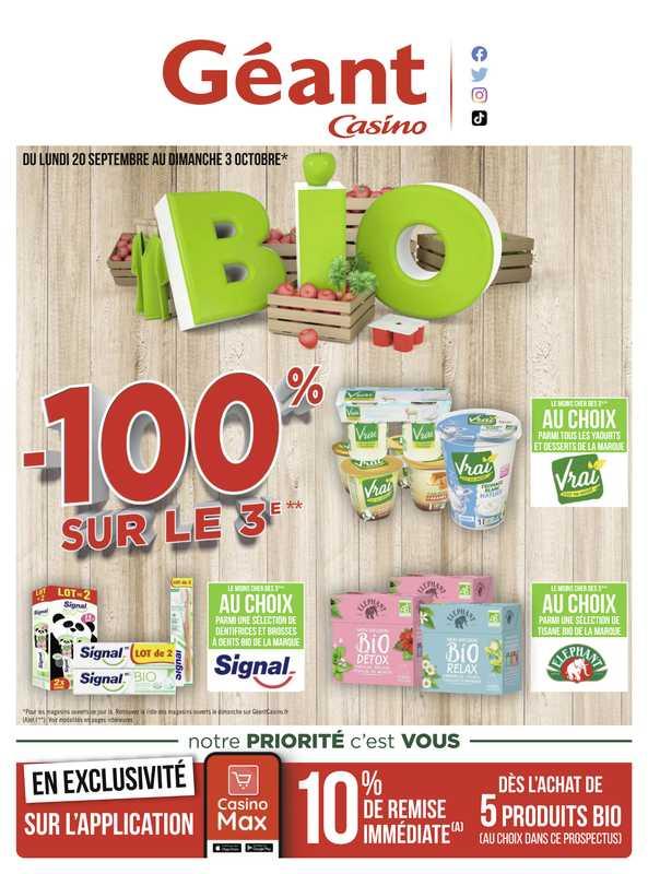 Géant Casino - promo valable du 20.09.2021 au 03.10.2021 - page 1.