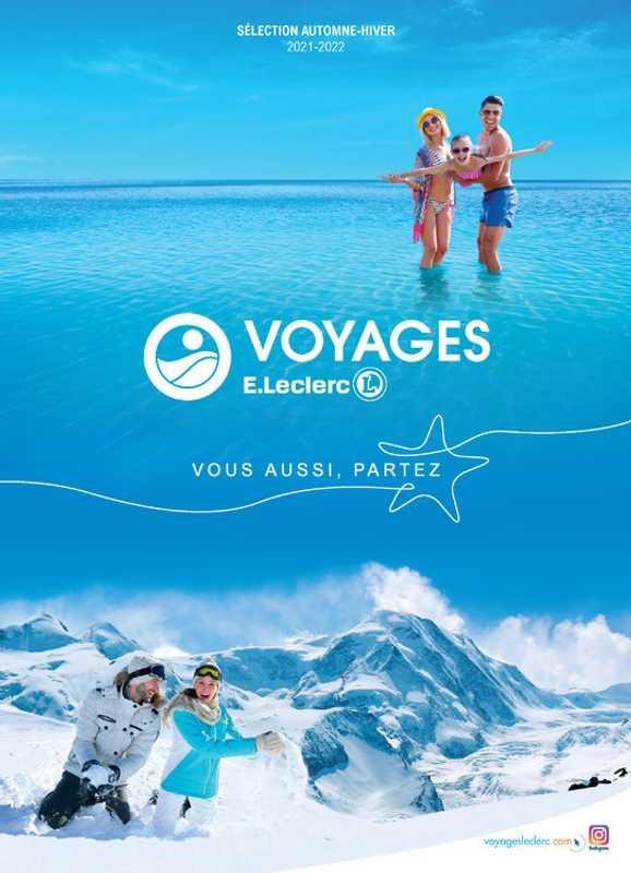 Leclerc Voyages - promo valable du 01.09.2021 au 31.03.2022 - page 1.