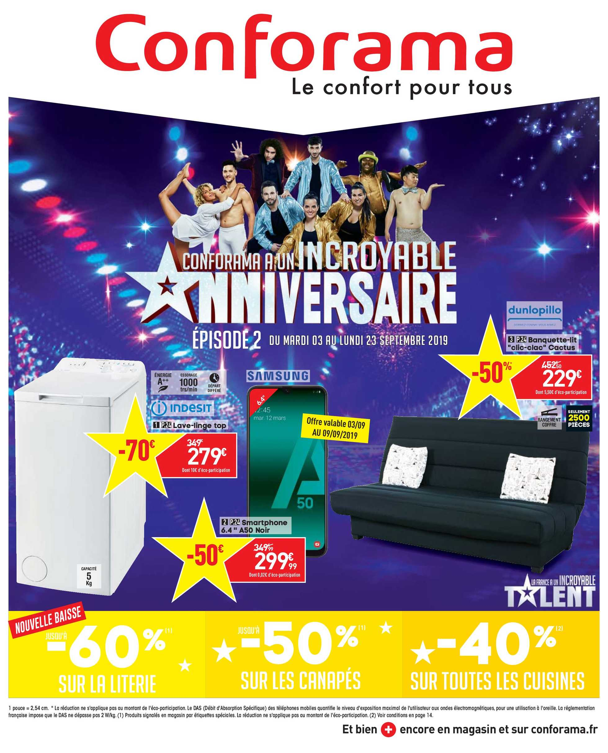 Conforama - Catalogue Septembre - 03-09-2019 | fr.promotons.com