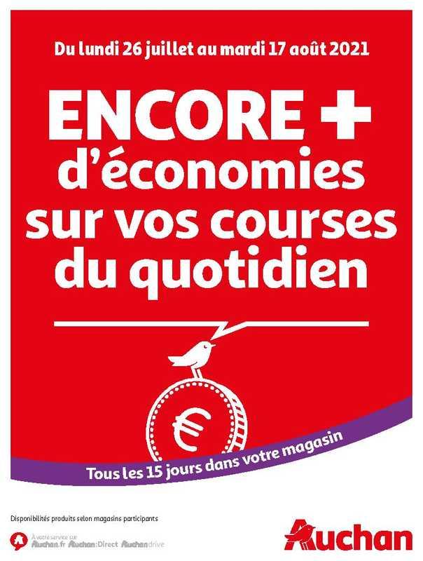 Auchan - promo valable du 26.07.2021 au 17.08.2021 - page 1.