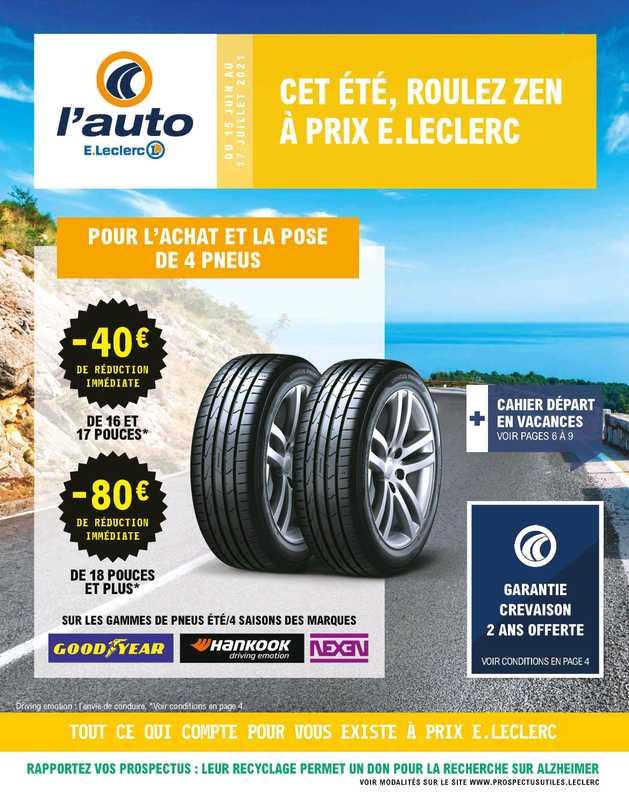 L'Auto E.Leclerc - promo valable du 15.06.2021 au 17.07.2021 - page 1.