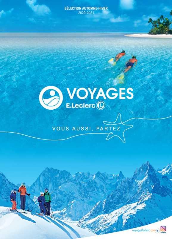 Leclerc Voyages - promo valable du 24.08.2020 au 31.03.2021 - page 1.