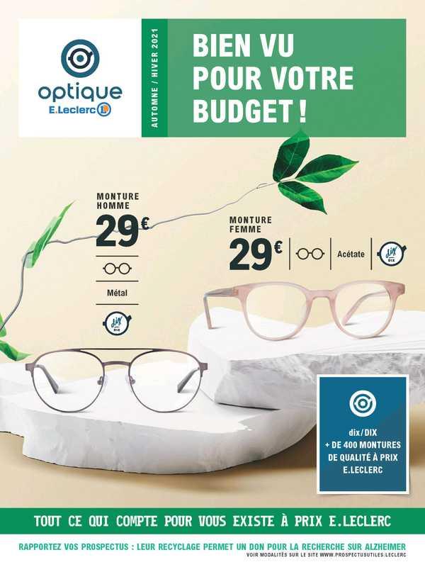 E.Leclerc Optique - promo valable du 24.08.2021 au 19.02.2022 - page 1.