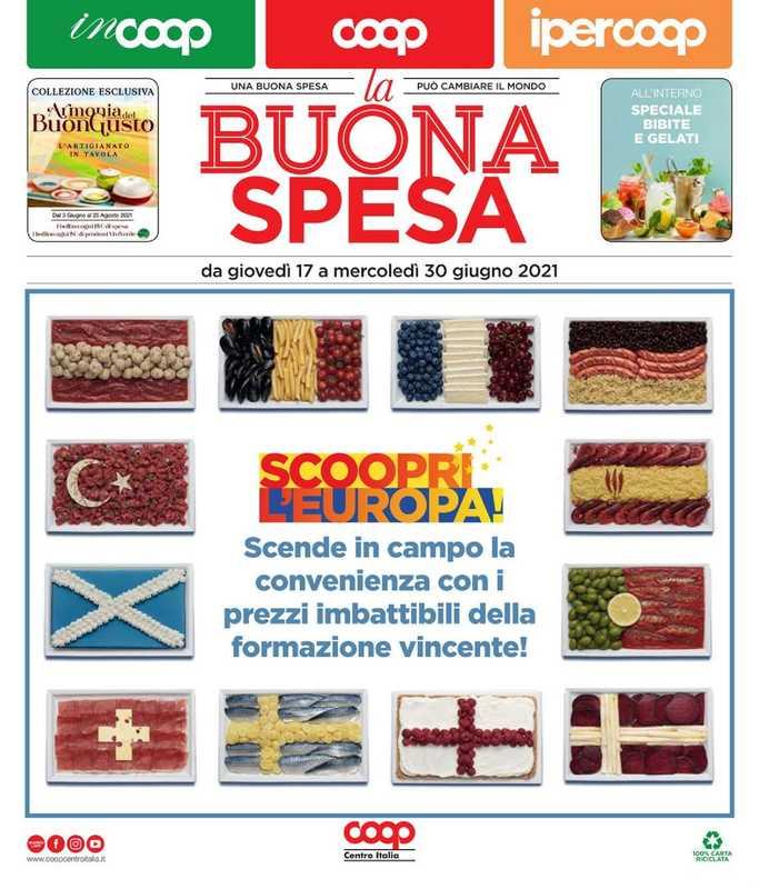 Coop Centro Italia - offerte valide dal 17.06.2021 al 30.06.2021 - pagina 1.