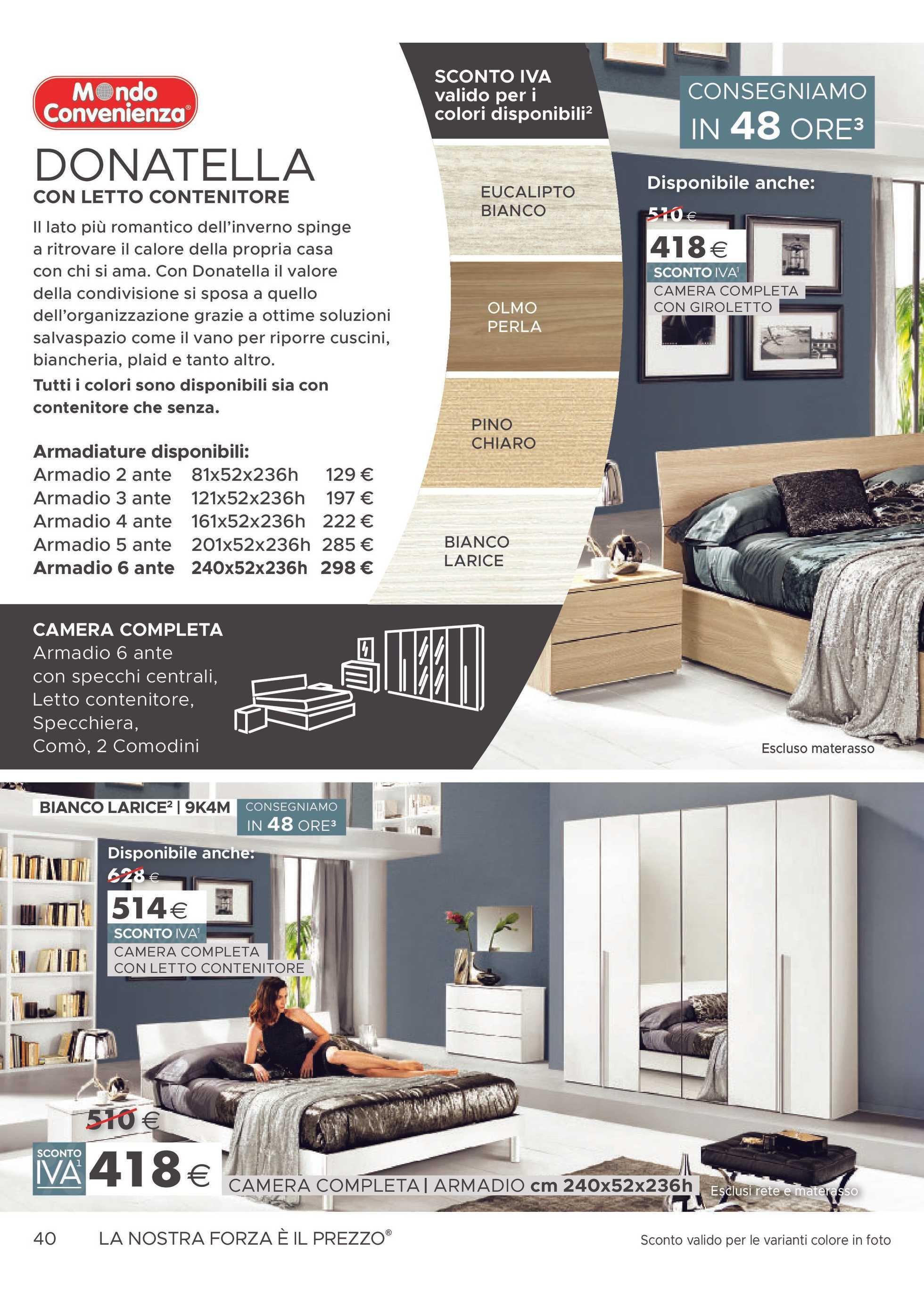 Armadio Donatella 3 Ante Mondo Convenienza.Mondo Convenienza Brochure Promozionale 01 01 19 It Promotons Com