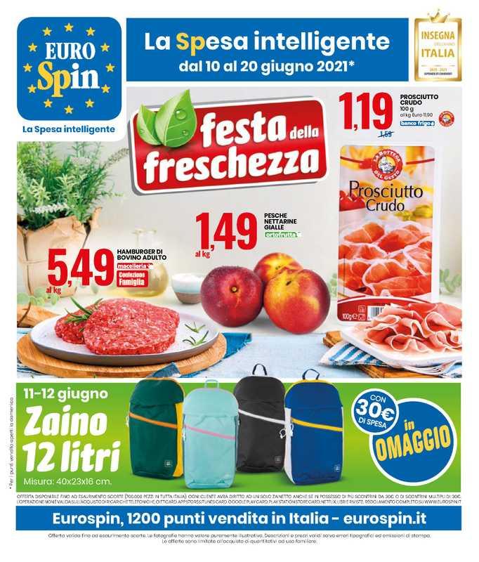 Eurospin - offerte valide dal 10.06.2021 al 20.06.2021 - pagina 1.