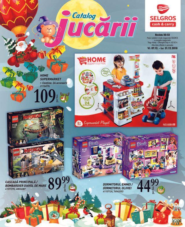 Catalogul Selgros de Crăciun - oferte speciale la jucării în perioada sărbătorilor de iarnă