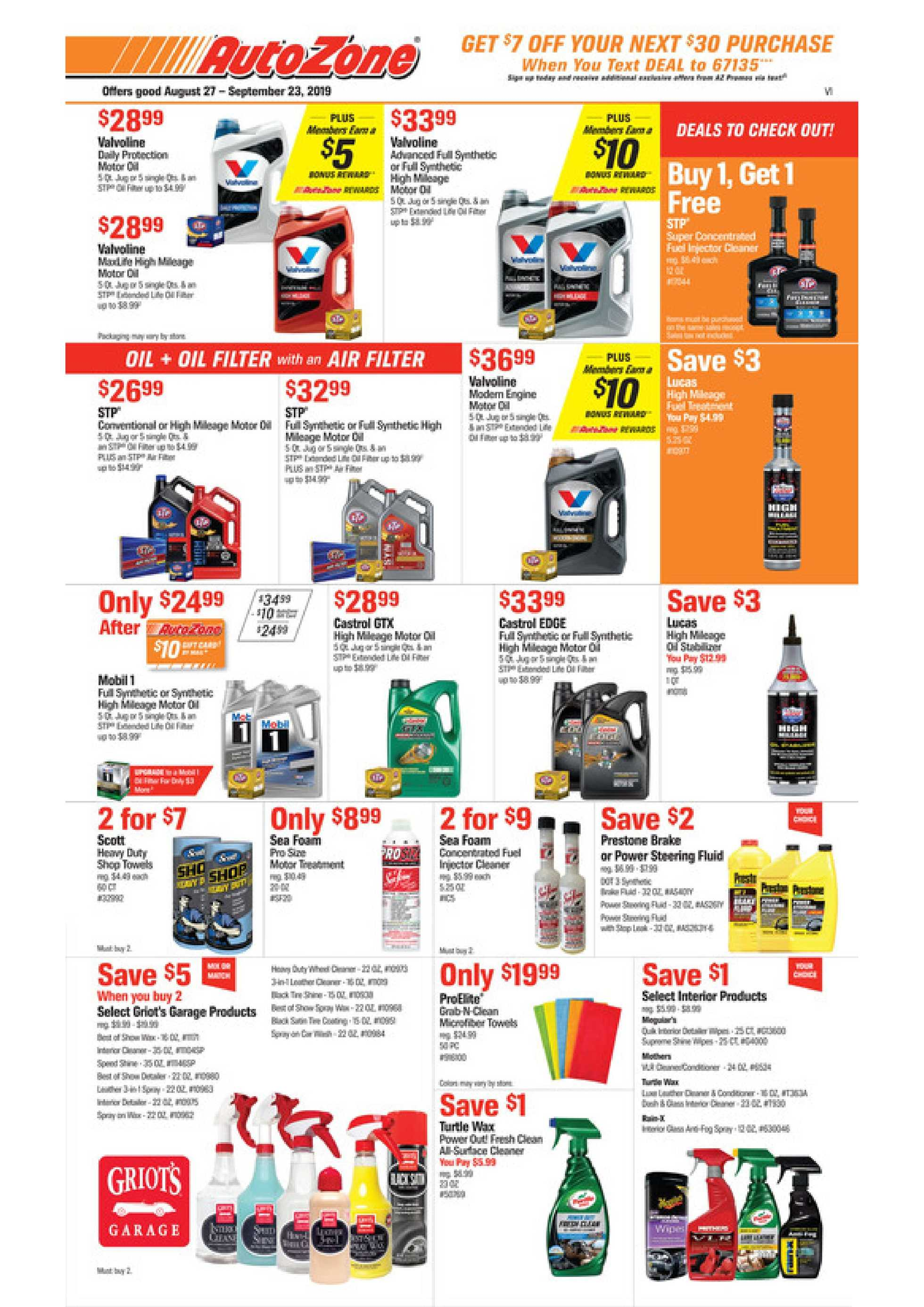 AutoZone - promo starting from 08/27/19 - page 1