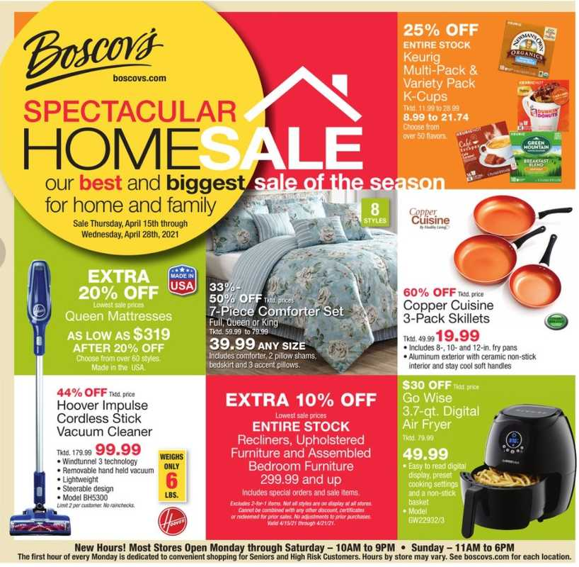 Boscov's - deals are valid from 04/18/21 to 04/27/21 - page 1.